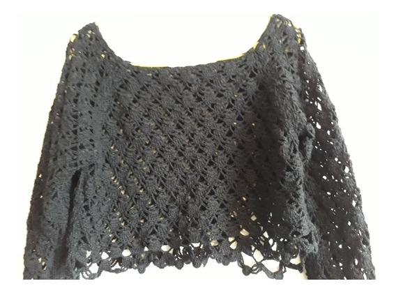 Crochetchile Sweater Playa Negro M. Envio Gratis