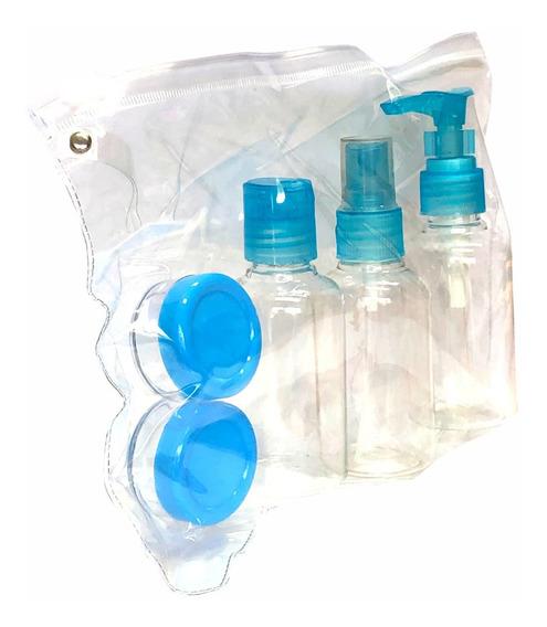 Set De Viaje Botellas Y Potes X 5 Higiene Personal Importado