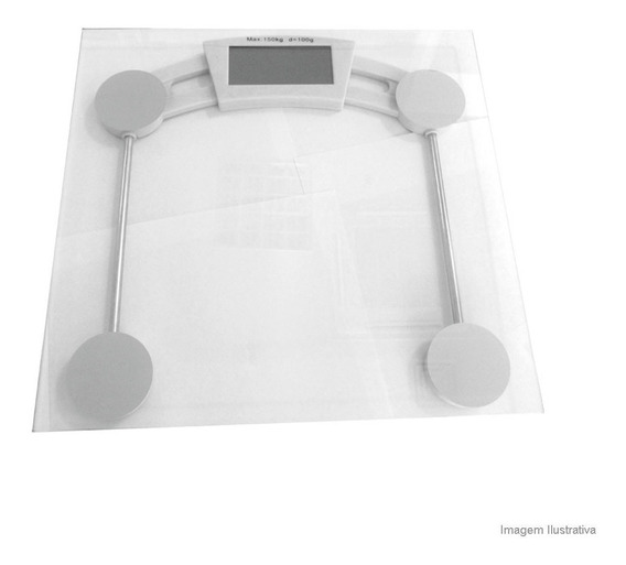 Balança De Banheiro Quadrada Em Vidro Coisas E Coisinhas