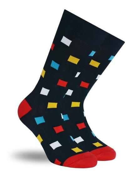 Calcetines Marino Skunk Socks Con Cuadros De Colores