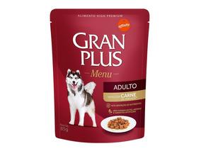 Caixa Com 36 Sachês Gran Plus Cães 85g Cada - Val. 08/20