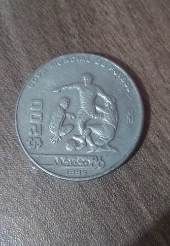 Imagen 1 de 1 de Moneda De 200 Copa Mundial De Fútbol 1986 Exelentes Condicio