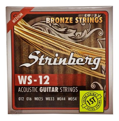 Encordoamento Violão Aço Light Bronze 0.12 Strinberg