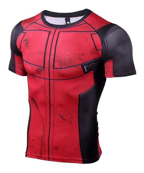 Camisa Semi-compressão Deadpool Pronta Entrega