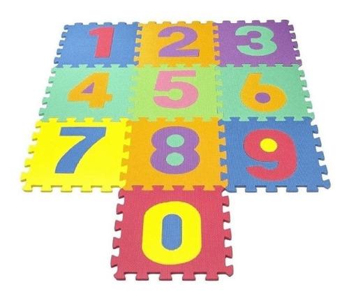 Tapetes Infantil Números Eva 10 Peças 7mm