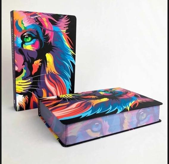 Bíblia Nvt Leão Lion Colors Letra Grande Capa Dura