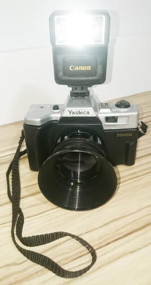 Câmera Fotográfica Yashica 2000n Analógica C/flash R E T R Ô