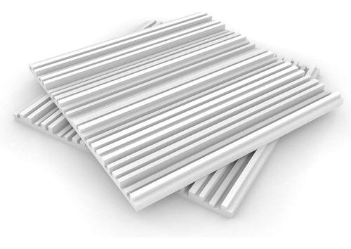 Imagen 1 de 6 de Panel Acústico Premium Blanco Ignifugo - City 30mm