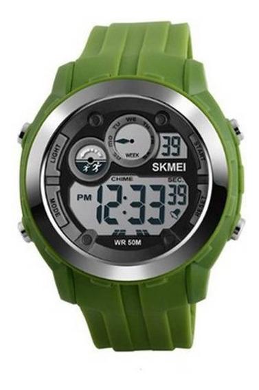 Relógio Skmei 1234 Original - Verde - Queima Estoque