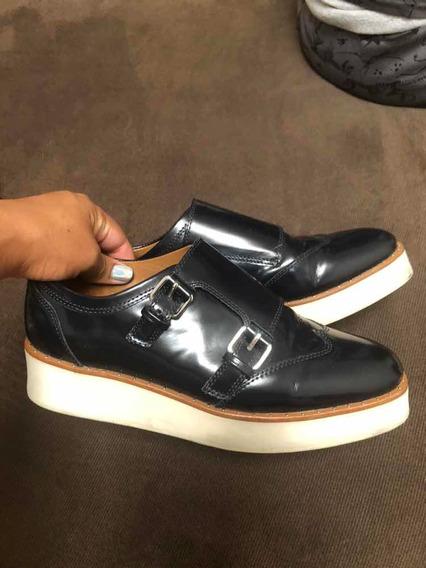 Zapatos Massimo Dutti En Piel 5mx Impecables No Mk O Coach