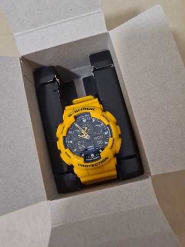 Relógio G-shock Ga100 Completo Na Caixa Amarelo Raro, Zero!