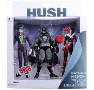 Dc Hush Figuras The Joker, Harley Quinn And Stealth Batman
