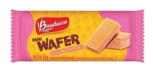 Imagem 1 de 1 de Biscoito Mini Wafer De Morango Bauducco 30g