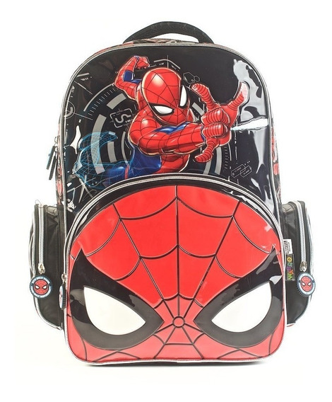Mochila Escolar 17 Spiderman Hombre Araña Original - 62312