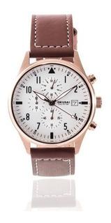 Reloj Okusai Hombre Crono 100m Fechador Okh0095-crl-9b