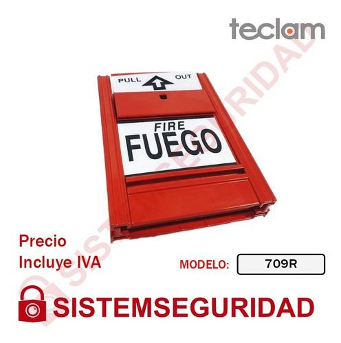 Estacion Manual Metalica Palanca Sistema De Incendio Teclam