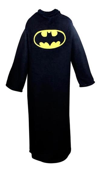 Cobertor Com Mangas Batman - Original Dc Comics