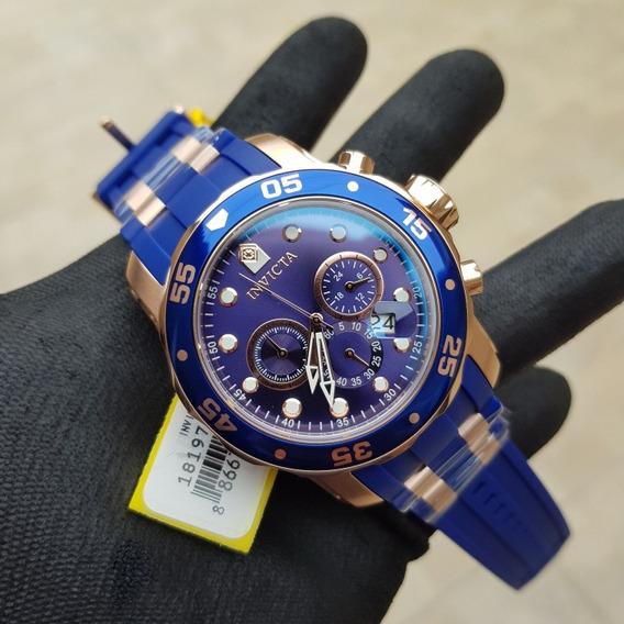 Relógio Invicta Pro Diver 18197 Original Pulseira Azul