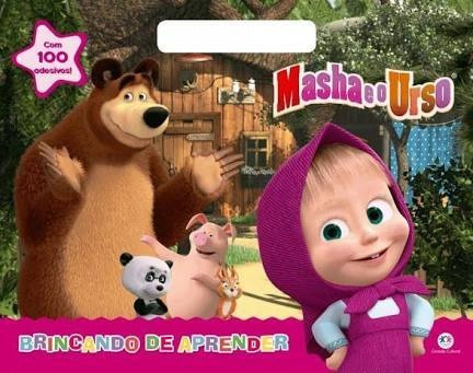 Livro Masha E Urso - Prancheta Colorir + 100 Adesivos