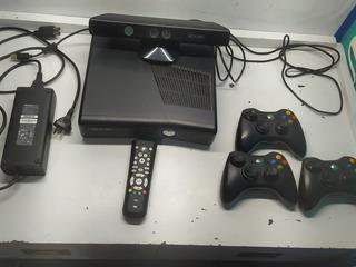 X Box 360 Original Con +25 Juegos, 3 Controles, Kinect.