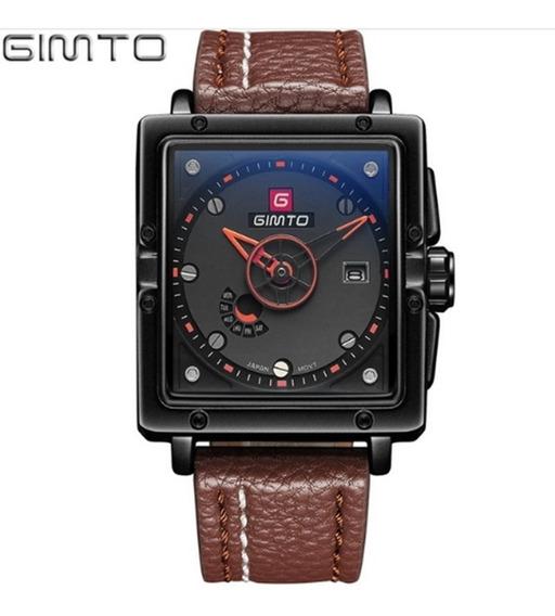 Relógio Masculino Gimto Gm223 De Pulso Quartzo Barato