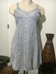 Vestido Curto Indiano Estonado/bordado Tamanho M