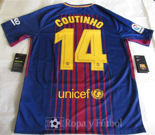 Camiseta Nike Fc Barcelona Stadium 2017-18 - Coutinho 14