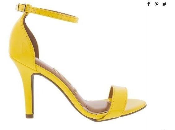 Sandalias Amarillas Taco Fino