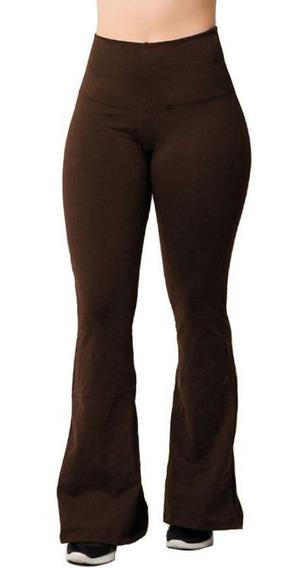 Calça Legging Flanelada Termica Suplex Flare Feminina