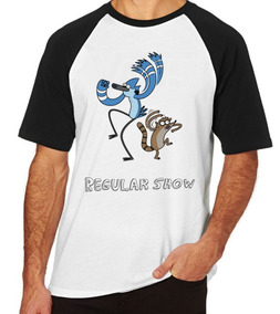 7522cf984f Camisetas Cartoon Regular Show Mordecai - Camisetas Masculinas Preto ...