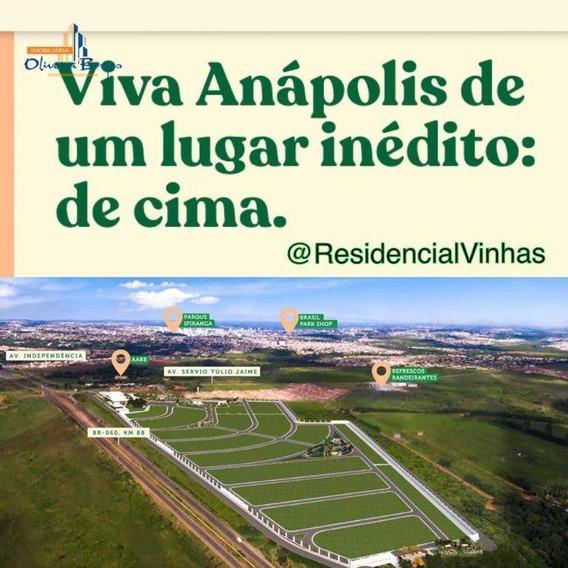 Terreno À Venda, 360 M² Por R$ 165.000 - Condomínio Residencial Vinhas - Anápolis/go - Te0535