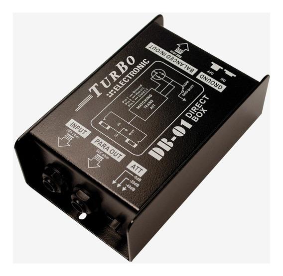 Direct Box Passivo Turbo Db-01 Profissional 1 Canal Nf Gtia