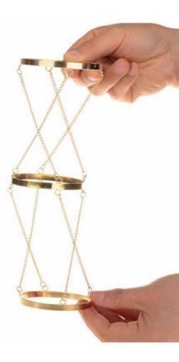 Bracelete Tribal Braço Pulseira Três Argolas Banhado A Ouro