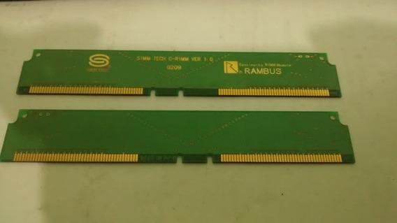 Memoria Simm Tech C-rimm Ver 1.0 Rambus Lote C/2 (0209)