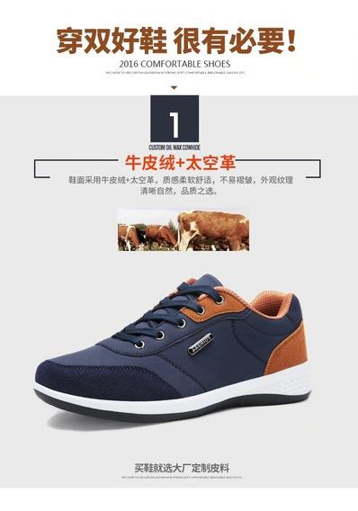 Zapatillas Casuales Para Hombre De Piel Micro-fibra N° 40
