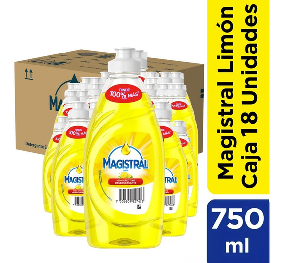 Pack 18 Lavaloza Concentrado Magistral Limón 750 Ml