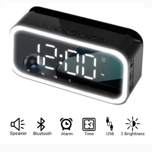 Reloj Despertador Digital Con Altavoz Bluetooth Y Led