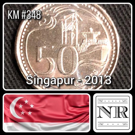 Singapur - 50 Cents - Año 2013 - Km #348 - Puerto