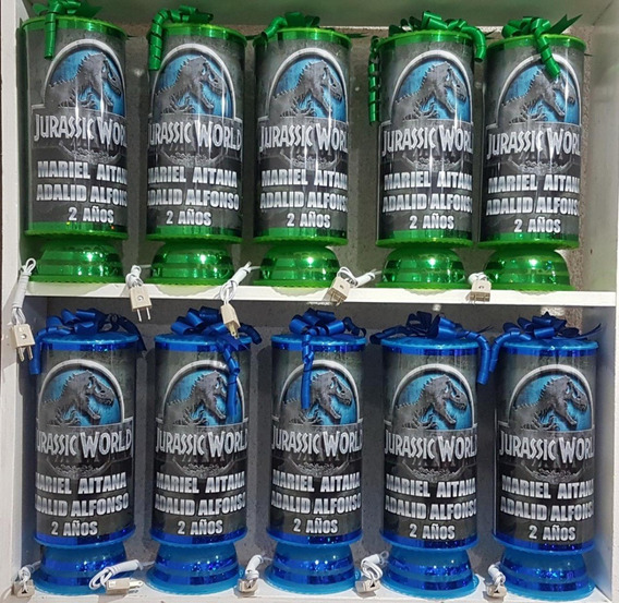 Dinosaurios 10 Centros De Mesa Lamparas 38 Cm Altura Premium