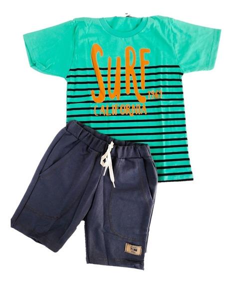 Kit Roupa Infantil Menino 10 Conjunto 12346810 Atacado