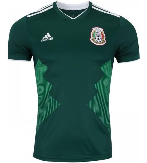 Camiseta adidas Seleção México I Copa 2018 - Original