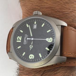 Reloj Gpw Militar Feldher Titanio Automatico Malla Bund