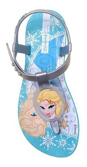 Ipanema Infantil Frozen Grendene Azul/prata - Tam. 31