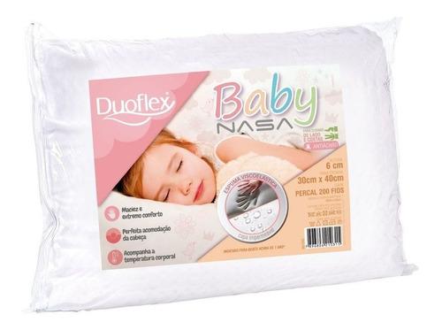Travesseiro Duoflex Nasa Baby Viscoelástico 30x40x6cm Bb1002