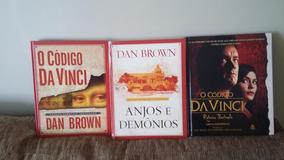 Kit Com 3 Livros Anjos E Demônios, Código Da Vinci.