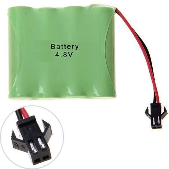 Bateria Carrinho 4,8v Aa Ni-cd 700mah Com Conector Smp 02