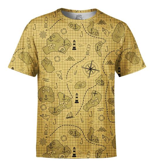 Camiseta Masculina Mapa Do Tesouro