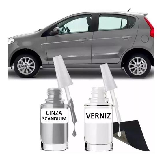 Tinta Tira Risco Automotiva Fiat Cinza Scandium 15ml