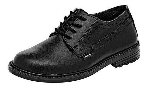 Yondeer Sneaker Deportivo Escolar Piel Negro Niño N79698 Udt