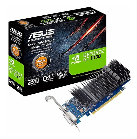 Placa De Video Geforce Nvidia Gt 1030 2gb Ddr5 Lp Asus Csm